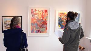 Utställningen lockade ett femtiotal personer.
