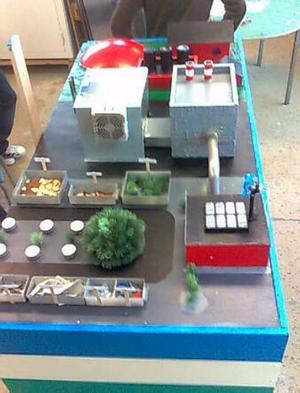 Frostviksskolans stadsmodell som gav seger i regionsfinalen i Umeå och för fjärde året i rad plats vid riksfinalen i Stockholm i tävlingen Future City.
