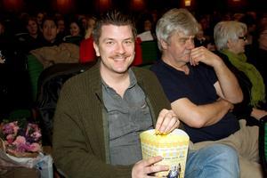 Mats Strandberg, som skrivit Cirkeln tillsammans med Sara Bergmark Elfgren, var glad över att få se filmen i Fagersta.