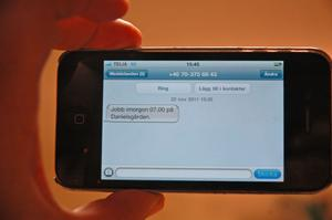 DIGITALT. I det nya systemet går ett sms i väg till vikarien när det finns jobb.