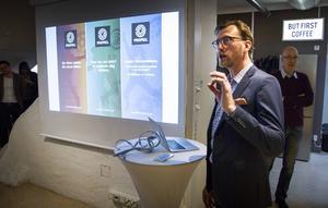 Martin Askne tackade initiativtagarna Hudiksvalls kommun, Fiber Optic Valley, Acreo Swedish ICT och Hydraulikklustret.