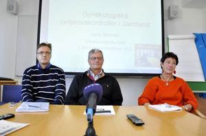Resultatet efter cellprovsskandalen presenterades på torsdagen av Jens Boman, chef på laboratoriemedicin i Umeå, Göran Edbom, chefsläkare i Umeå och Pia Collberg, chefsläkare i Östersund.