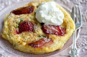 Strawberry pancakes - perfekt sommarfrukost eller brunch.
