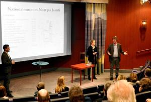 Berndt Arell från Nationalmuseum presenterade planerna på ett Nationalmuseum Norr tillsammans med Jamtlis Charina Knutsson och Henrik Zipsane. Tidigast 2017 kan planerna bli verklighet.