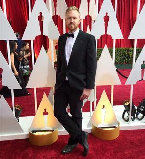 Erik på röda mattan på Oscarsgalan.