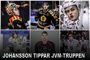 Felix Sandström, Axel Holmström, William Nylander, Oskar Lindblom, Andreas Englund och Carl Grundström är sex namn i Adam Johanssons trupp.