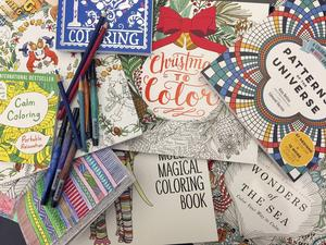 Målarböcker för vuxna var bokvärldens hetaste trend under 2015 och intresset står sig. Arkivbild.