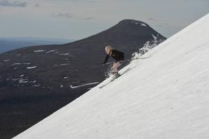 Elin Carlsson Mångs på Nipfjället med Städjan i bakgrunden.