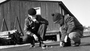 Kulspel i Norrtälje 1957.