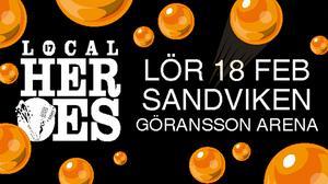 Local Heroes 2017. Den grafiska utformningen av årets fest är gjord av konstnären Rolfcarlwerner.