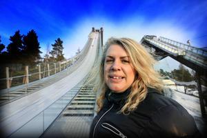 Marit Stub-Nybelius säger att OS-tävlingar i Falun skulle göra otroligt mycket för backhoppning och nordisk kombination i Sverige.