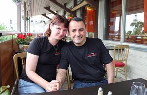 Laurentsio Petterson med sin sambo Anette Lindén på Wesslegårds hotell i Ockelbo