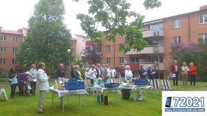 Boende i bostadsföreningen Grankullen med inbjudna från grannförningen Grankotten samlades för att gemensamt fira nationaldagen.