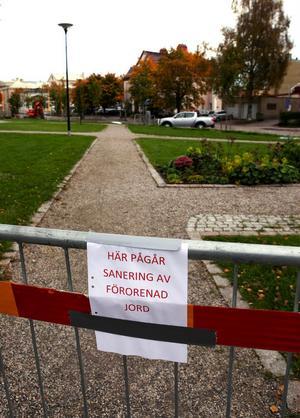 Området har spärrats av för allmänheten.