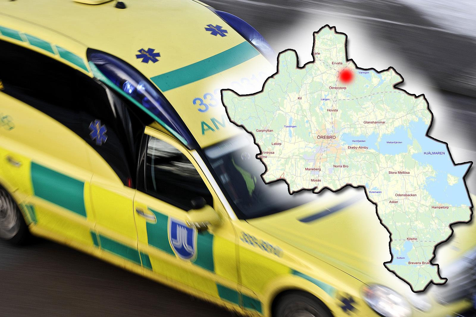 Klamdes fast i bil efter olycka