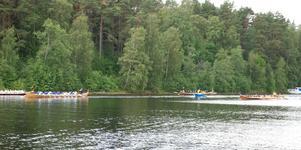 Damklassen. Rättvikskullan, Rättvik, leder över Sofia Magdalena, Sollerön. Bilden är från heat nummer ett i damklassen. Foto:Göran Persson