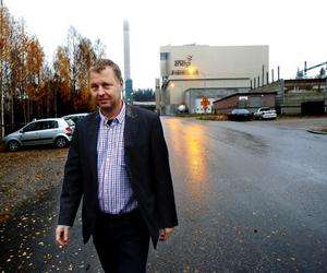 Om några år ska här tillverkas biogas på bland annat allt matavfall från hushållen. Den förhoppningen har Bertil Carlsson, projektledare för biogassatsningen.