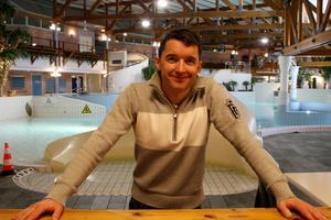 Joakim Halvarsson, enhetschef på Storsjöbadet i Östersund.