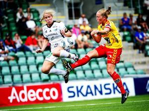 Emma Jonsson hade SDFF:s stora chans i den första halvleken, när hon vann ett motlägg och avslutade med vänstern. Några mål blev dock varken för Jonsson eller SDFF, som nu får koncentrera sig på seriespelet.