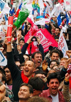 I Hollande får Frankrike sin förste vänsterpresident sedan Mitterrand. Foto: Francois Mori/AP/Scanpix