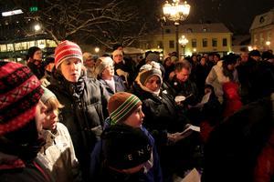 Publiken var också med och sjöng julsånger.