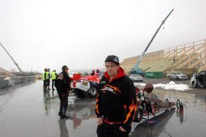 SUGEN. Marcus Back Andersson tävlar i junior dragster. Han ser fram emot att tävla på Tierp Arena.