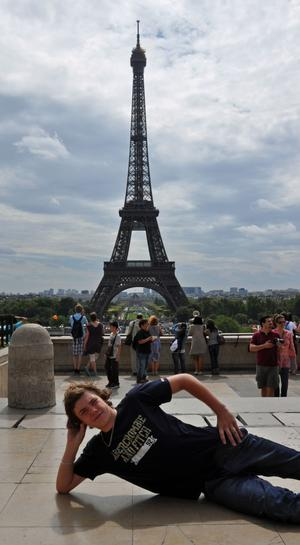 Bilden togs förra året då André Andersson  var i Paris tillsammans med familjen.