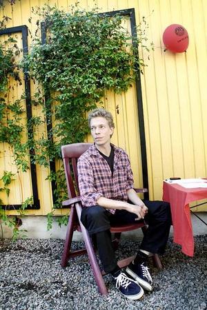 Mikael Hjort är aktiv i Joe Hillsällskapet som driver museet på Joe Hillgården, och nöjd med lördagens 40-årsfirande.