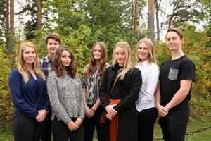 Gävles stipendiater: Louise Lundblad, Axel Lundkvist, Lisa Höglund, Tove Engvall, SofiaGöransson, Anna Wahlberg och Pontus Törnblom.