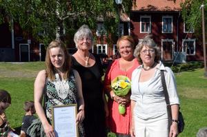 Jeanette Aronsson, Eva Wikman, Ingela Bornström och Wicken von Post blev Årets Ljusnarsbergare 2013.