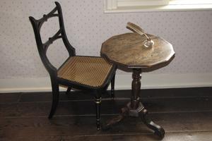 Jane Austens skrivbord, som man kan beskåda i hennes hem i Chawton.
