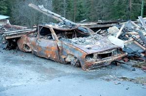 Nytagna bilder från området där Ragnarök brann ner.