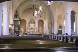 Endast ett femtontal besökare avnjöt orgelkonserten i Staffans kyrka