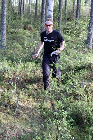 Andreas Davidsson, marknadsansvarig för O-ringen centralt, var i Ljusdal och provade på terrängen.