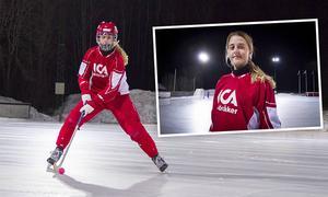 Malin Persson tog VM-guld med Sverige för ett par veckor sedan. Nu laddar hon och Söråker för SM-kvartsfinal mot Västerås med start på fredagen.