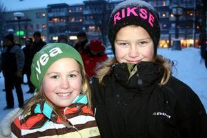 Med i tv. Tilda Lalander och Wilma Rikse som ska tävla i Lilla sportspegeln i kväll.