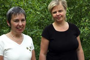 Hoppfulla. Marie Olausson, Trädgård Norr, och Maria Lindgren, initiativtagare till Trädgård Mitt, är hoppfulla inför premiären för den nya stora trädgårdsmässan i Säterdalen som blir kommande lördag och söndag.