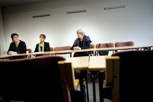 Reningsbad. Cheferna på KFÖ ska bli förebilder i god etik, enligt förvaltningschefen Åsa Bellander (längst till vänster). Politikerna Hannah Ljung (M) och Ann-Christine Lahti (S) är helt eniga. Nu återstår att fatta ett beslut. bild: pavel koubek