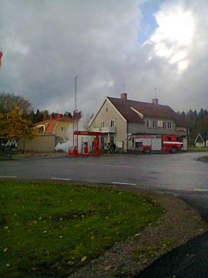 Bilbrand. En bil började brinna i Olshammar under fredag lunchtid. Brandkåren kunde dock snabbt släcka.