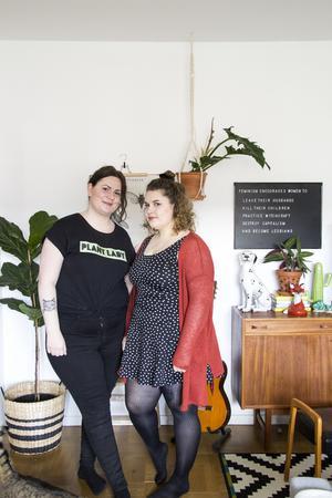 Ina Björkstedt och Maria Agné trivs i Fagersta, hit flyttade efter att ha bott i Västerås och Göteborg.
