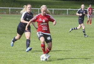 Wilma Larsson sköt två mål och fixade tre poäng åt Team Hudik.