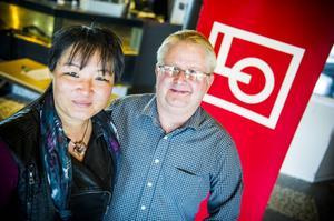 Yoomi Renström (S) och Hans Svedberg, ordförande LO-distriktet Dalarna-Gävleborg, ser fram emot vårens och höstens valrörelser.