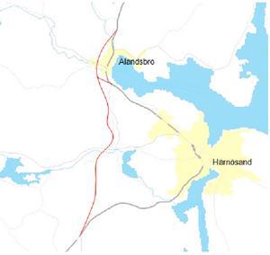 Den här kartan tog dåvarande Vägverket fram i sin förstudie från 2001