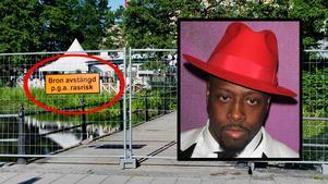 I kväll spelar Wyclef Jean på Frimis. På tisdagen stängdes ena Frimisbron av på grund av rasrisk.