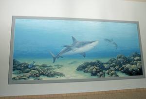 Målningen är 2,5 meter hög och drygt 5 meter bred.