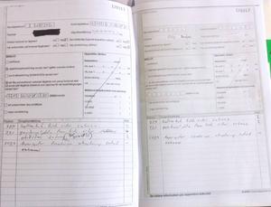 Bosse Hårdén upptäckte att ägarens kopia (till höger) inte överensstämde med polisens protokoll.