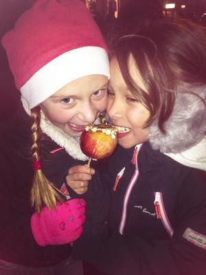 Knäckäpplen är gott.
