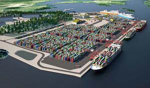 Nynäshamns kommun vill på onsdag lyfta fram Norviks godstransporter på land. Ilustrationen är från hamnens detaljplan.