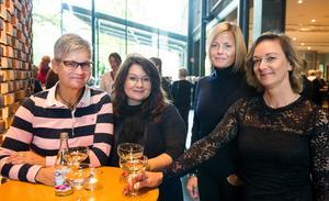 Karin Wigert, Isabell Beana, Therese Edholm och Marianne Gudmundsson hade tagit sig till Västerås från Ludvika och Borlänge.