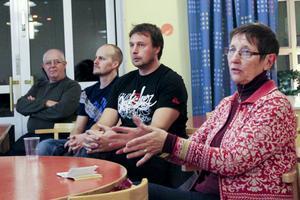 Fyra engagerade Söderalabor. Anders Norgren, Fredrik Svahn, Peter Hedin och Karin Häger.